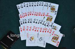 Jumbo Index Poker Club Plastic Playing card