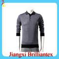 estilo novo da forma de confecção de moda de algodão de alta qualidade de manga comprida novo design camiseta polo