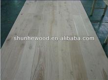 Unfinished Oak Engineered Wood Flooring with Oak Color PE Filler & 6mm top layer