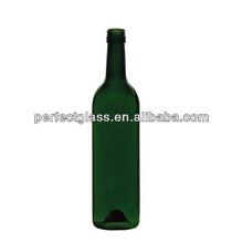 750ml antique dark green liquor glass bottle