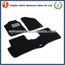 PVC car floor mat with logo print