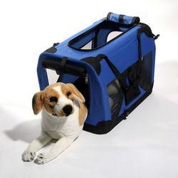 2014 Bright Blue Color Dog Carrier Box pet kennel