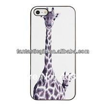 All'ingrosso di qualità caldo giraffa madre e bambino modello case del pc fisso con telaio nero cover per iphone 5/5s