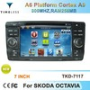 2 Din Touch scren car dvd radio player for SKODA OCTAVIA with gps, bluetooth, tv, ipod, usb, sd, 3g function