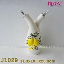 bloom popular ceramic oil and vinegar 2 in 1 bottles shaker