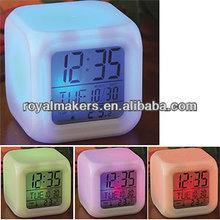 Cube color change digital alarm clock