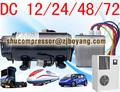 Auto de climatización de Kompressor para dc camión cama de aire acondicionado con energía
