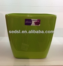 colourfull square mini artificial flowers pot