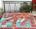Colchas de lujo hechos a mano indio patchwork elefante colchas/cubrecamas