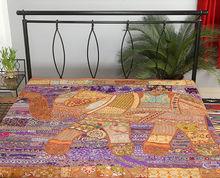 Elegante colcha de retazos, indio colcha de algodón, hechos a mano colcha