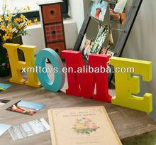Favoritos OEM decorativo letras del alfabeto con pintura para la decoración del hogar, Letras del alfabeto de plástico