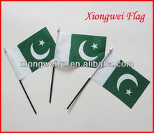cheap polyester Pakistan hand flag