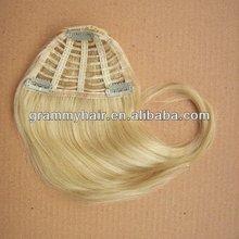 100% brazilian hair clip natural hair bangs and free sample hair pieces bangs on alibaba