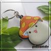 Handmade Custom Logo Soft Rubber Mushroom PVC Keychain 3D For Decoration