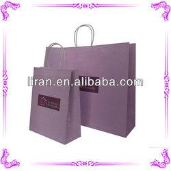 2014 custom design paper handbag & paper carrier bag & paper bags machines cost