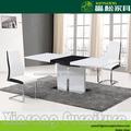 Moderna mesa de jantar mdf, alto brilho mesa de jantar