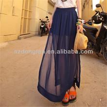 popular cheap long chiffon maxi skirt china supplier