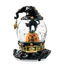 Halloween Fashion Pumpkin & Black Cat Crystal Globe