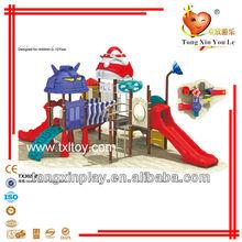 children outdoor plastic slide playsets TX3023B