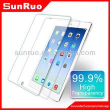 Anti-glare oleophobic coating colored border tempered glass screen shield for ipad air ipad mini