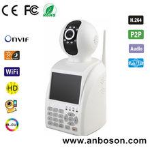 Anboson Low Cost Pan Tilt 0.3 Megapixel P2P IP Camera