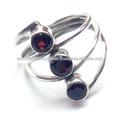 925 bagues en argent sterling anneau anneaux grenat pierre naturelle