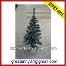 2ft 60cm mini nero piuma albero di natale con la neve bianca polvere di fare albero di natale artificiale