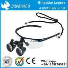 Binocular Loupes A1001 Black -2.5X/ 3.5X Surgical / Dental Loupe