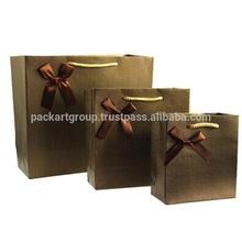 Elegant customized printed paper shopping bag & paper gift bag