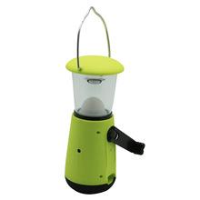 New solar LED hand crank dynamo lantern and solar camping lamp