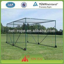 Colored Nylon/PA/Polyamide 10'*8'*5' baseball court fence net cage, baseball netting cage, baseball batting cage