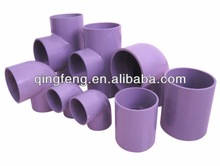 Purple pipe fittings