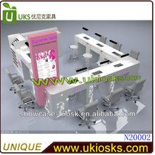 12x10feet Nail bar kiosk nail beauty kiosk nail bar furniture with tables