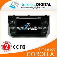 TYT-7881GDTMC/IPOD/AUXTOYOTA COROLLA car video manufacturer