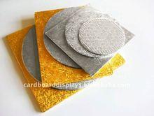CAKE BOARDS - Gold Cake Board - Silver Cake Base