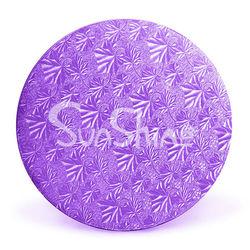 """Purple Foil Circles - 14""""--Corrugated Cake Circles"""
