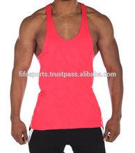 Wholesale Plain Gym stringer men's tank top In Bulk