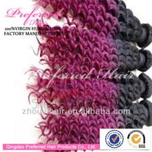 Brazilian 3 tone color ombre hair weaves