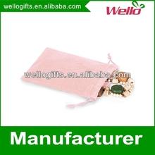 Custom mini eco-friendly velvet jewelry gift pouch bag