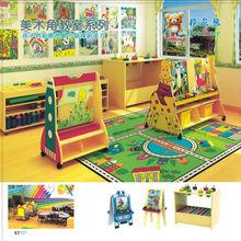 Kindergarten Furniture Children Art Painting Easel Caster Design High Quality