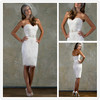 2014 winter white tight sexy short mini country wedding dresses XT-972