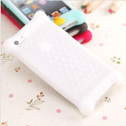 New transparent silicone phone case for lady