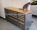 72 polegadas açoinoxidável de madeira mesa de rolamento