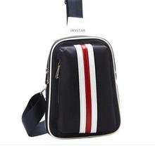 Men's leather bag sling camera drinking cross body sport bag