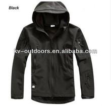 TAD v 4.0 Tactical Multicam sharkskin soft shell jackets military softshell Fleece lining with hood Jacket