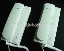 DC 4.5V 2C wire intercom phone with telephone,good quality door phone intercom,two-wire corded phones intercom