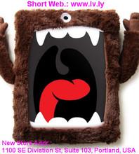ilovehandles original cyclops - stuffed animal plush case for ipad 2/3/4 with microfiber hands