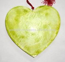Beautiful christmas decoration hanging handmade metal heart