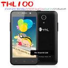 "4.5"" THL W100 Black MTK6589 Quad Core 1.2Ghz 3G Dual Sim Phone Mobile"