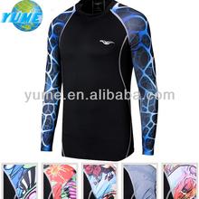 OEM Tight 3D Printing Men Tshirts/ Long Sleeves 3d Sports Men Tshirts